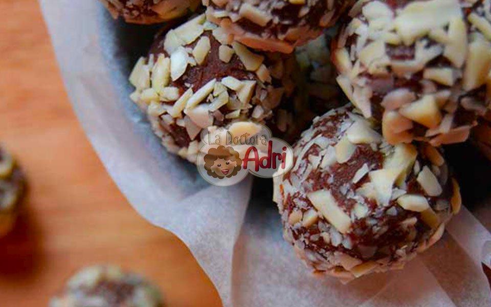 Trufas de chocolate con almendras